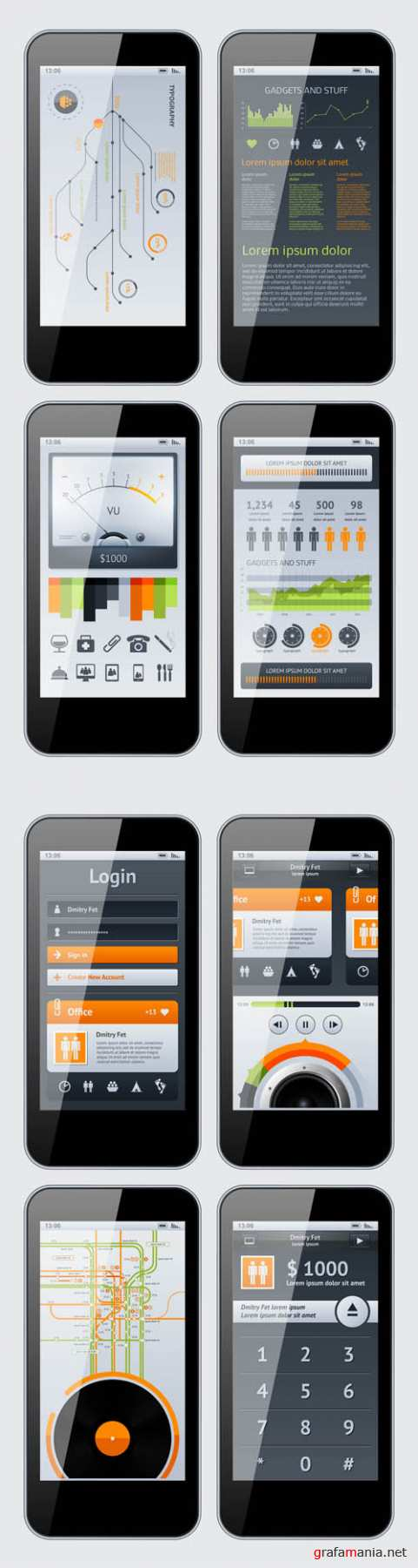 Web and Infographics - iPhone Pack EPS