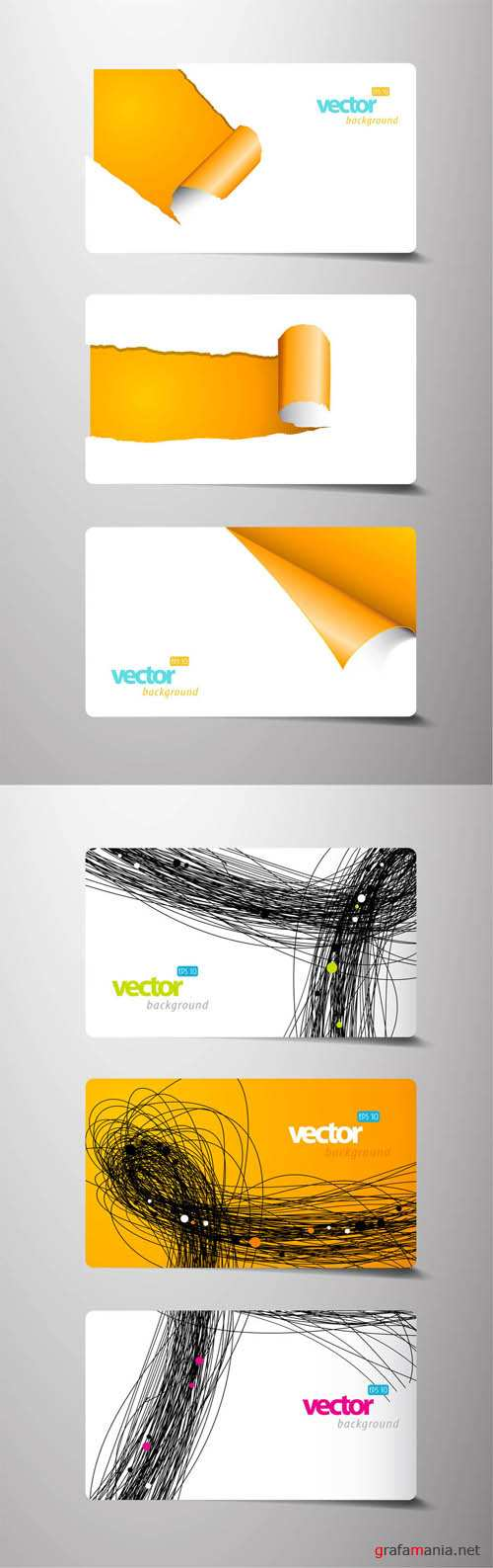 Vector Elements Creative Cards #4 EPS