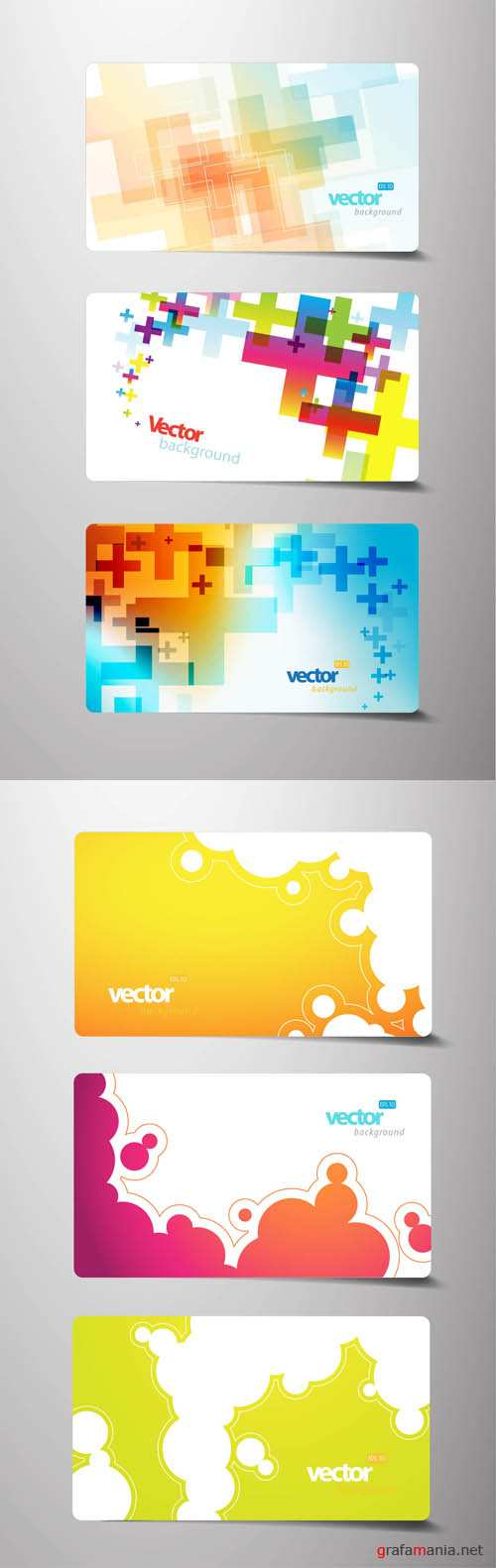 Vector Elements Creative Cards #3 EPS
