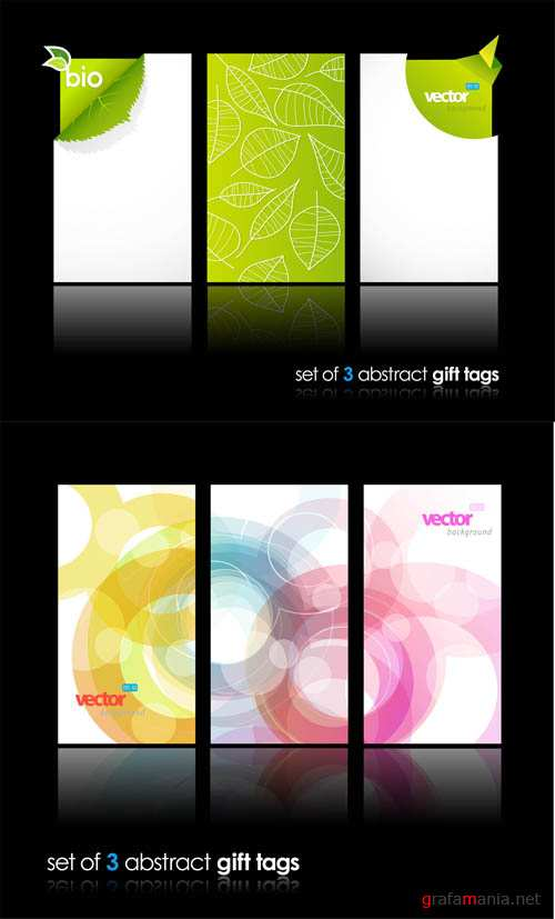 Abstract Gift Vector Tags #3 EPS