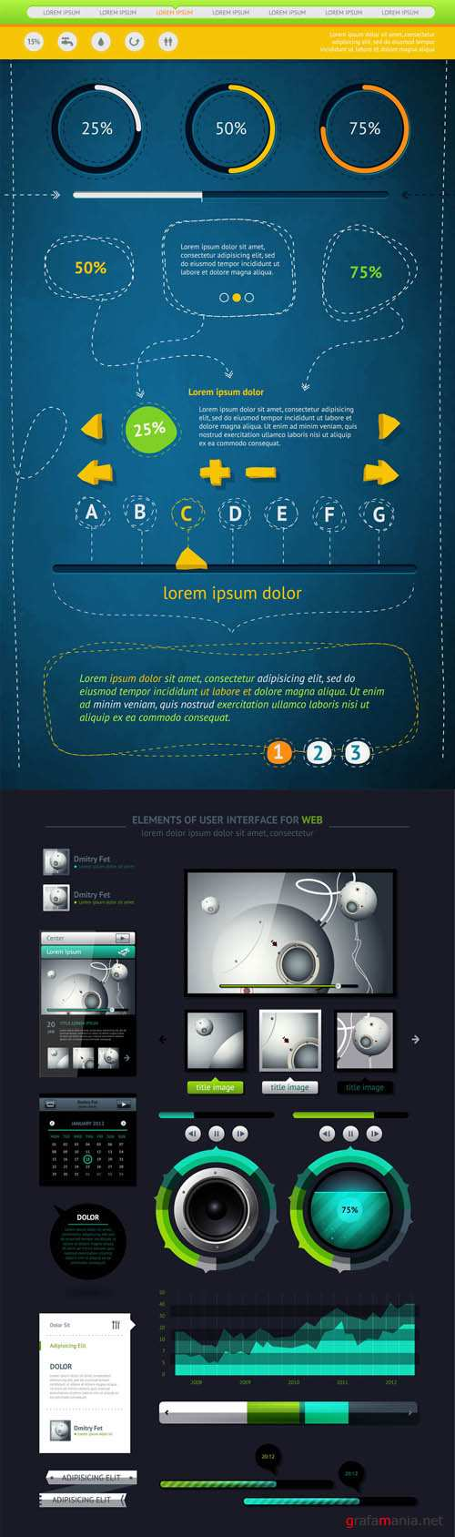 Infographics Vector Pack #4 EPS