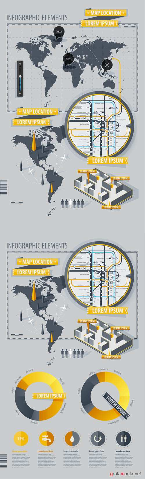 Infographics Vector Pack EPS