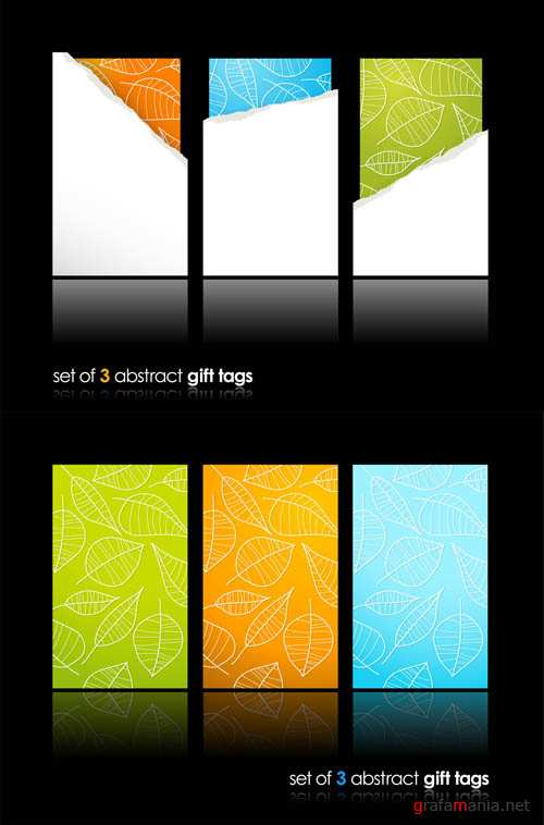 Abstract Gift Vector Tags #4 EPS
