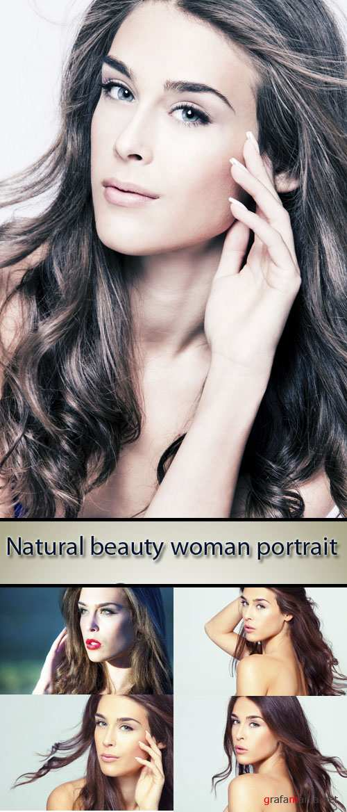 Stock Photo: Natural beauty woman, portrait