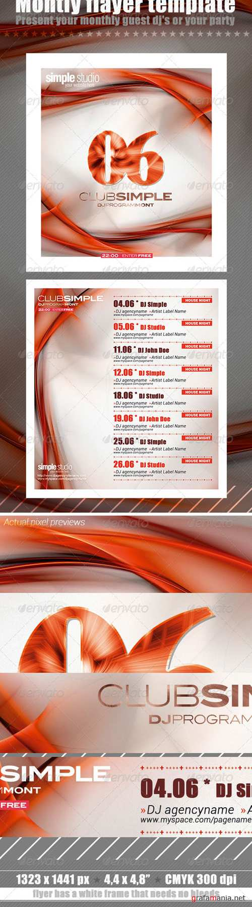 GraphicRiver - Monthly Flayer Template 2542759
