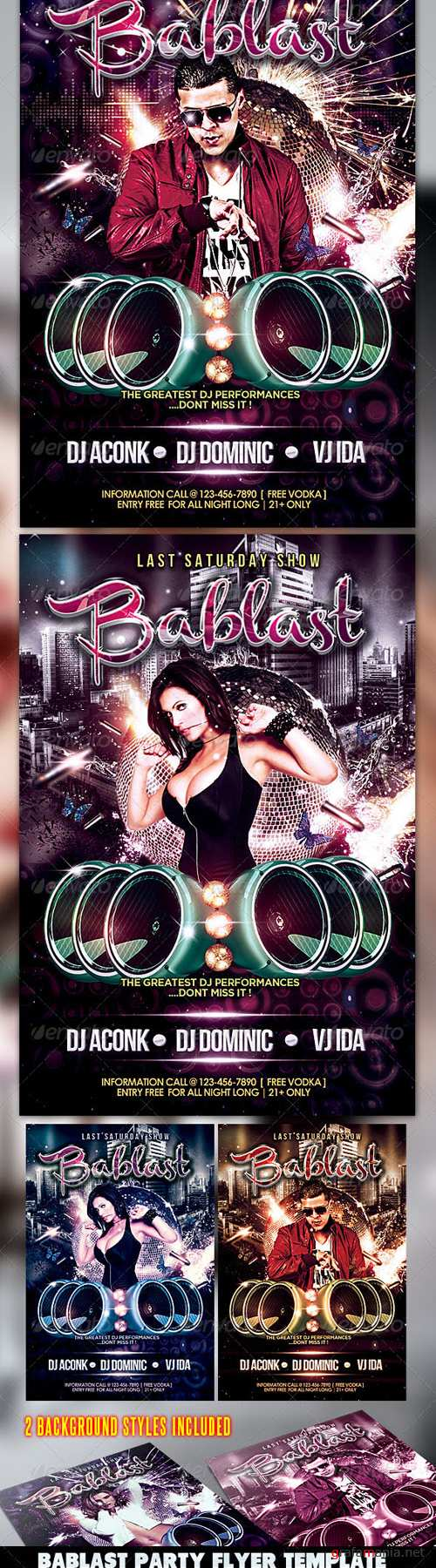 GraphicRiver - Bablast Party Flyer 2557601