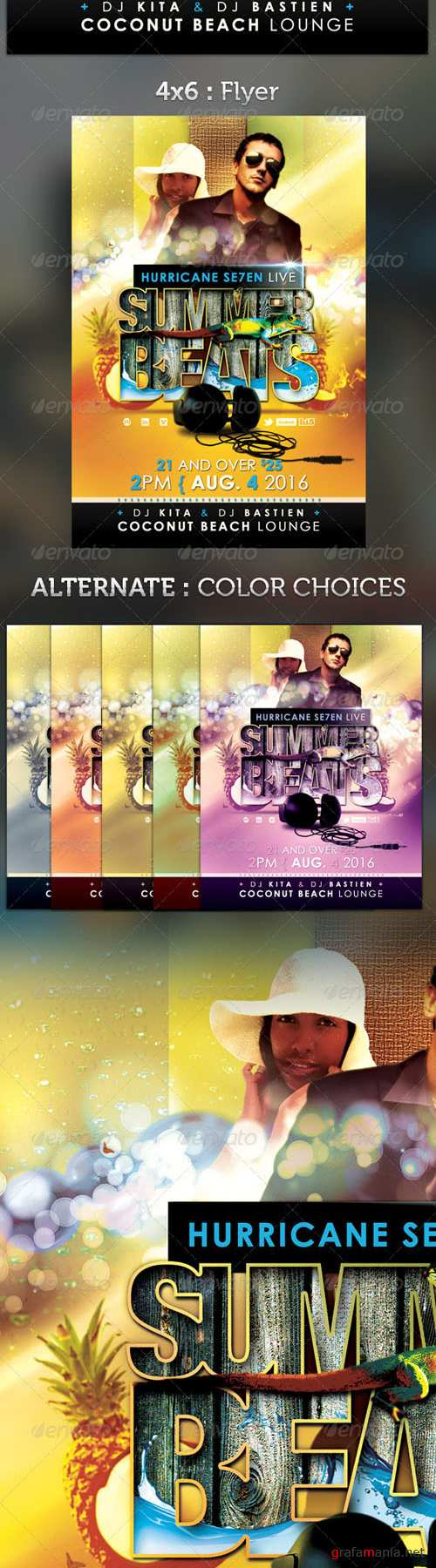 GraphicRiver - Summer Beats Party Flyer Template 2557559