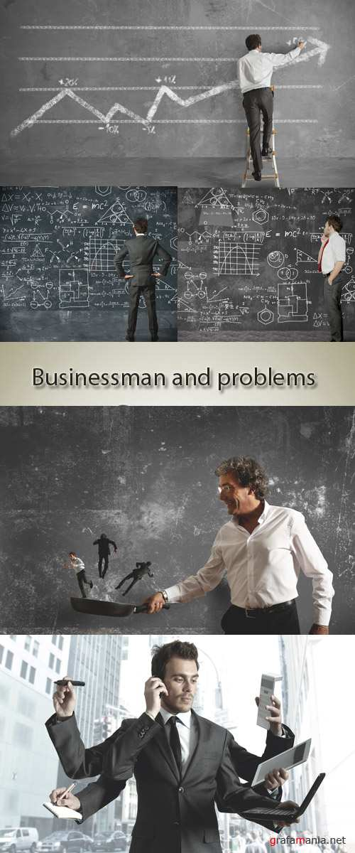 Stock Photo: Businessman and problems