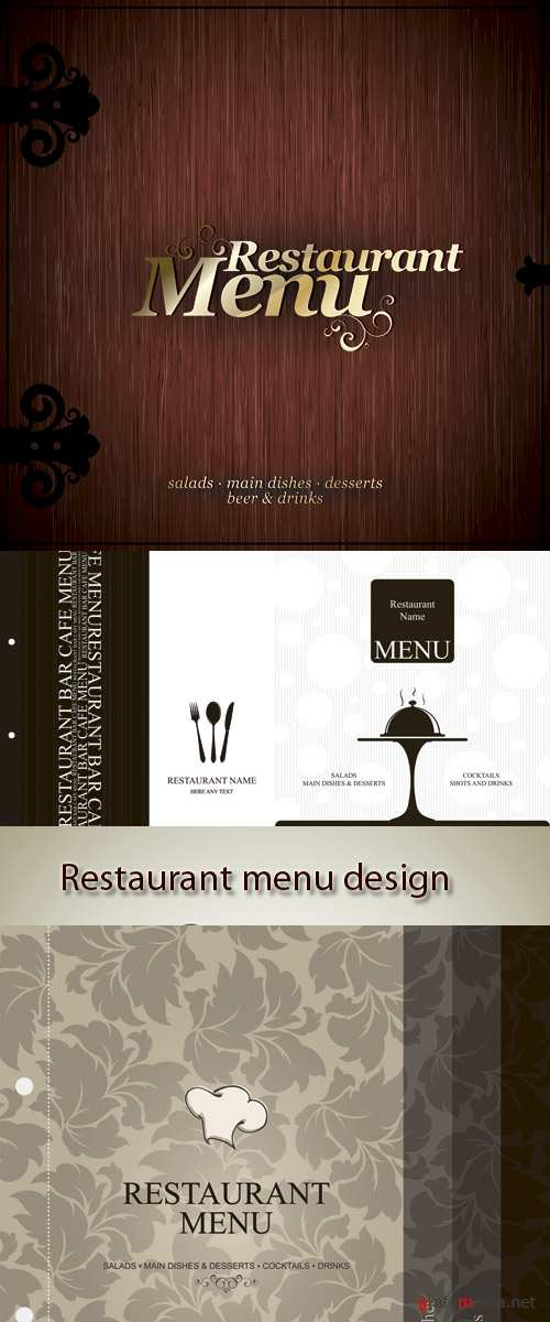 Stock: Restaurant menu design, with seamless background