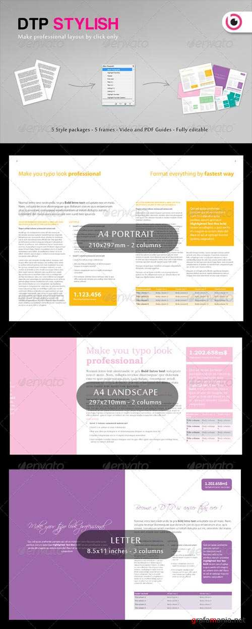 GraphicRiver DTP Layout Stylish Vol. 1