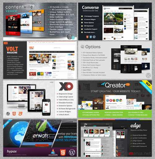 ThemeForest - 8 WordPress Themes Bundle v.1