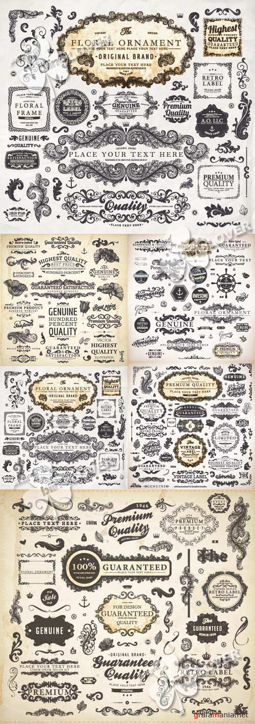 Set of vintage design elements 0232
