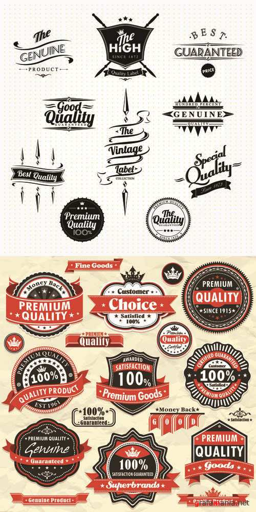 Labels Vector Collection #127