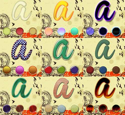 Text Styles for Photoshop by brunalisboac pack 4