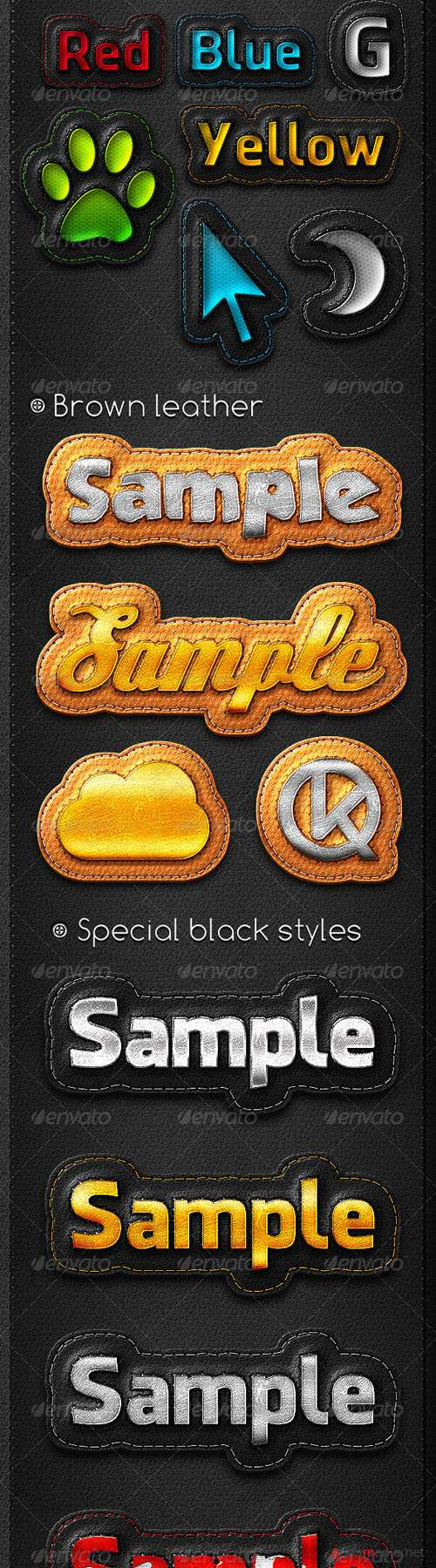 GraphicRiver - Leather Stripe Actions 671744