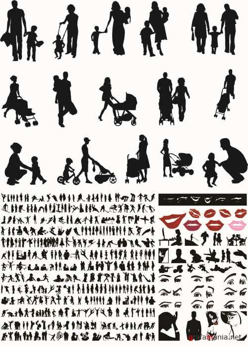 Vector People Silhouettes Collection #59