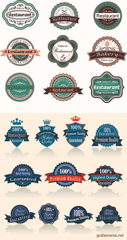 Labels Vector Collection #181