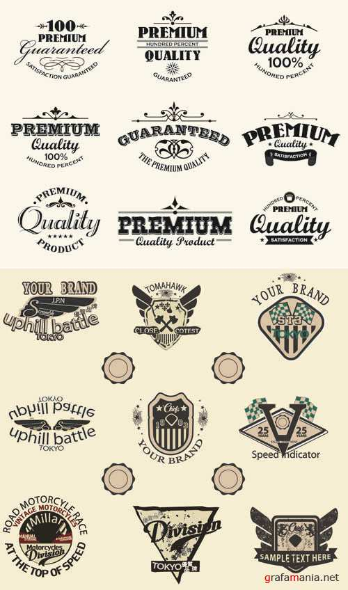 Labels Vector Collection #177
