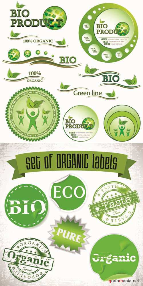 Labels Vector Collection #180