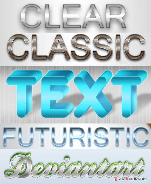 Text Styles for Photoshop