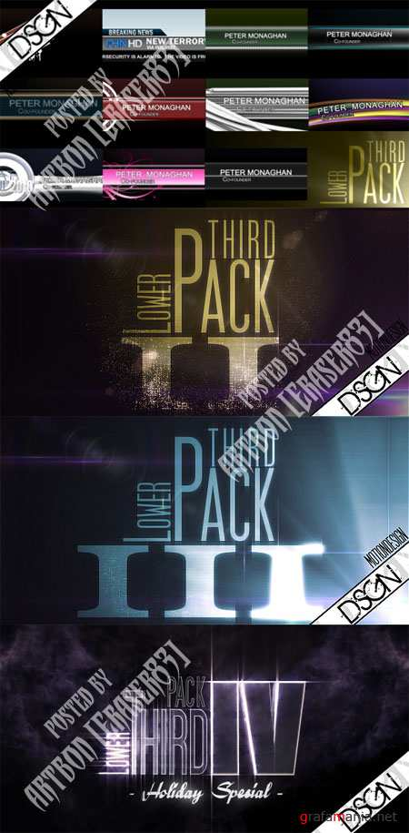Videohive Projects Collection - Lower Third Pack