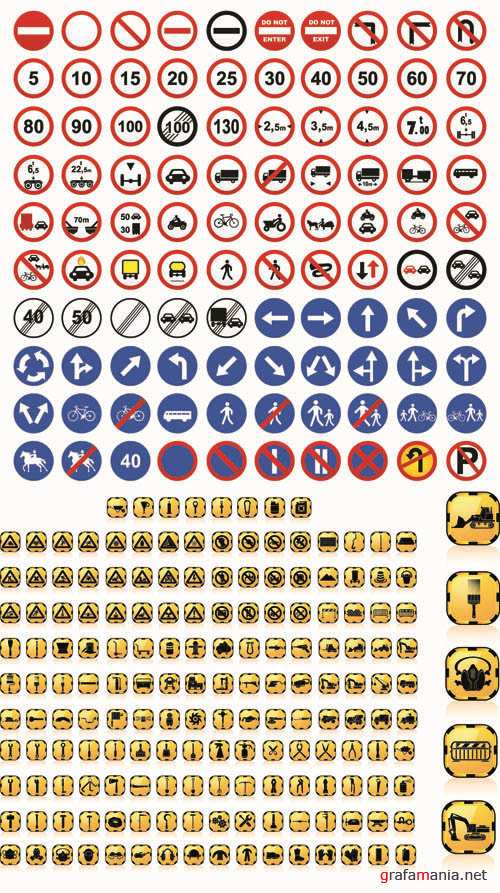 Road Sign - Big Vector Collection
