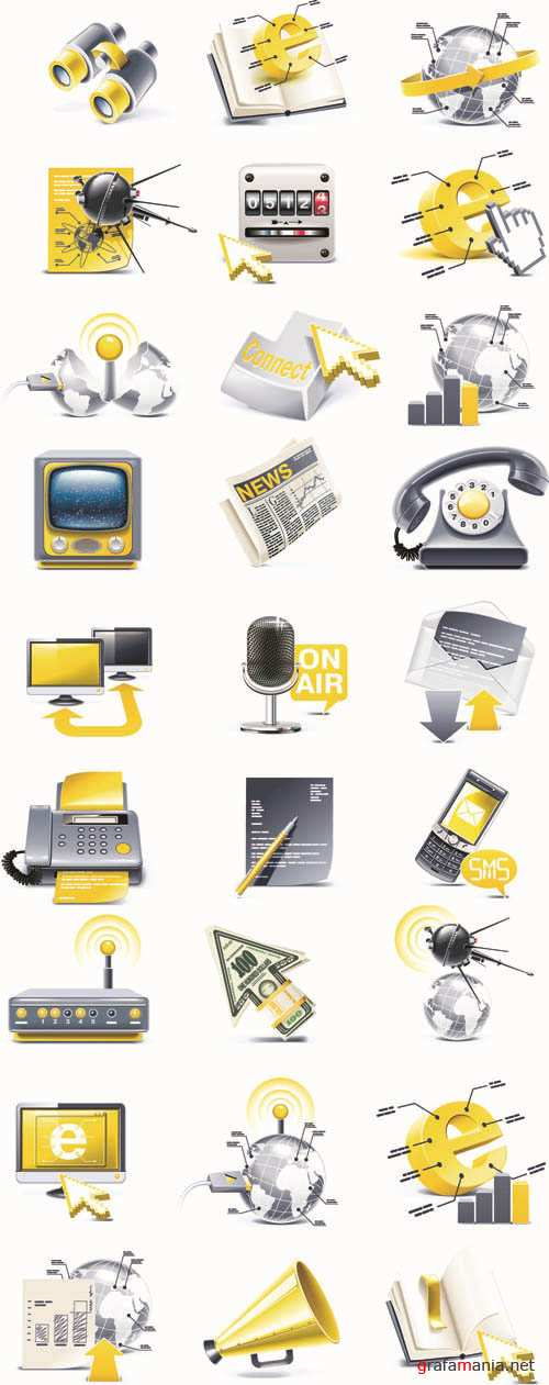 Means of Communications - 3D Web Vector Icons Collection #7
