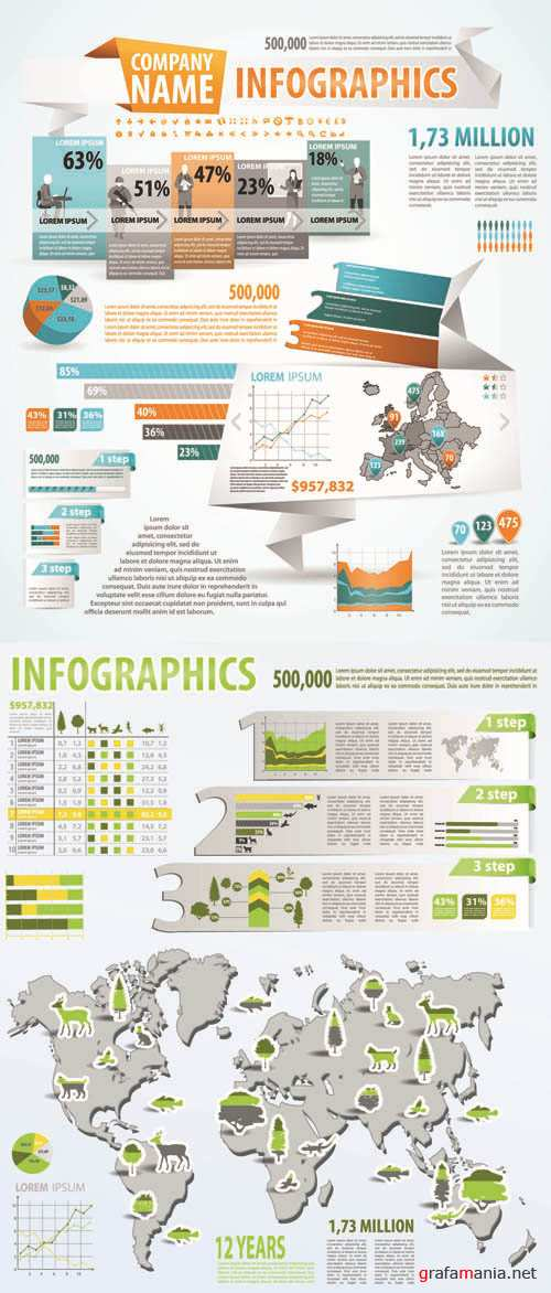 Infographics Vector Pack #258