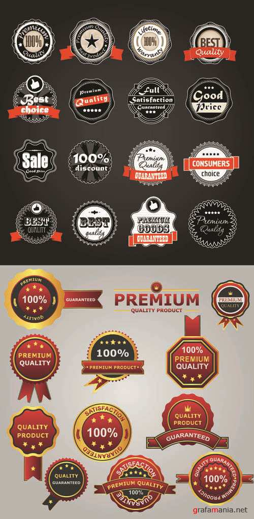 Labels Vector Collection #204