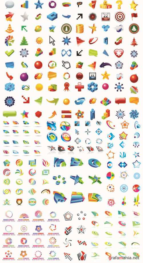 Elements for Design and Logo - Mega Vector Collection