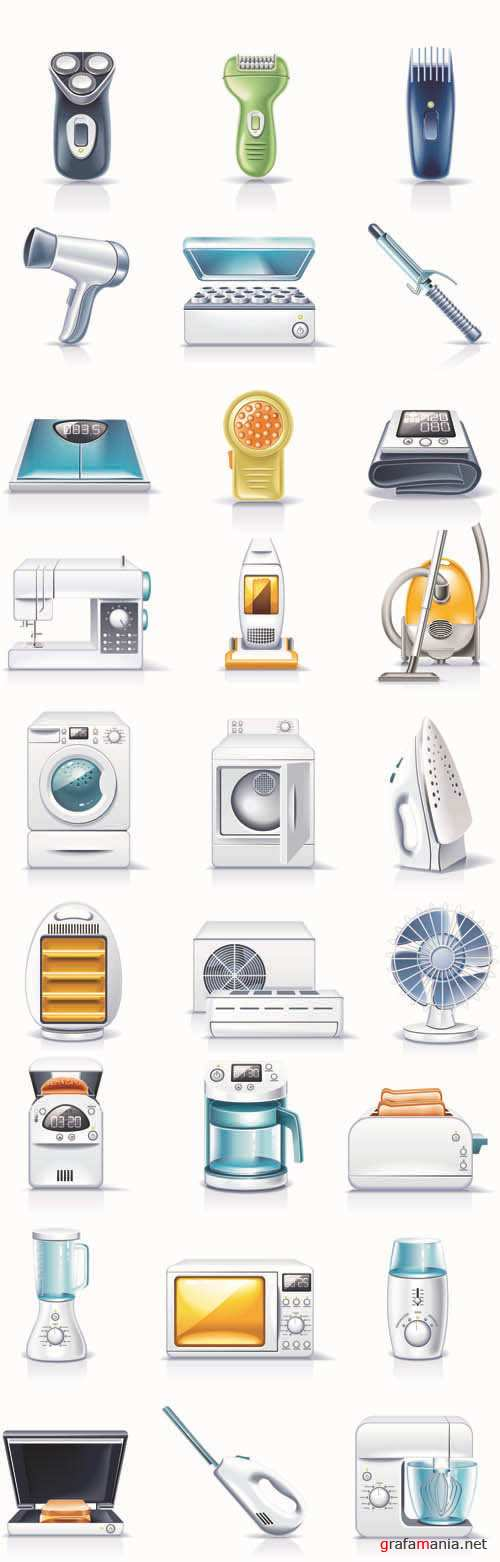 Household Appliances - 3D Web Vector Icons Collection #5
