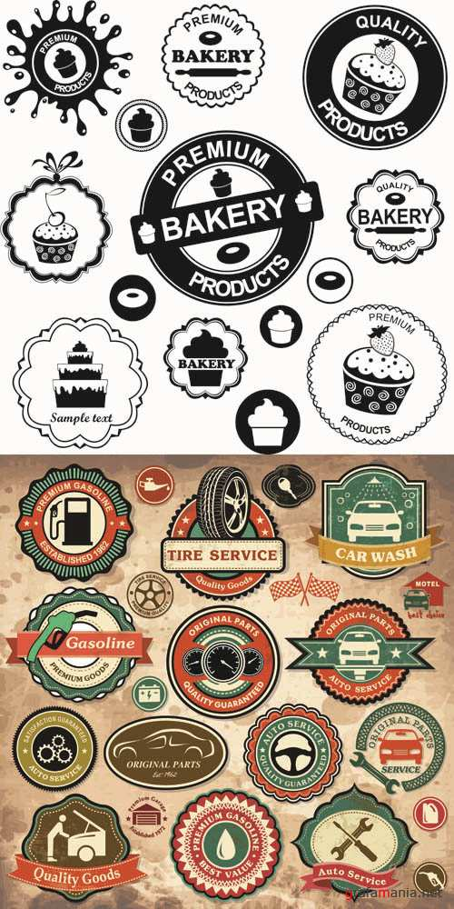 Labels Vector Collection #201