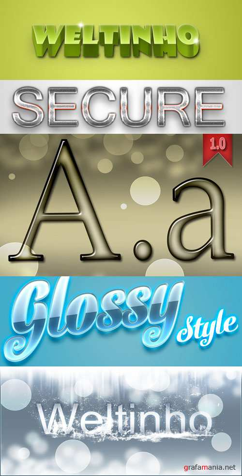 3d Text Style for Photoshop
