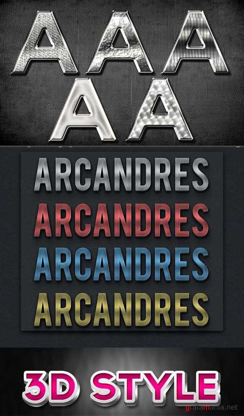 Silver Text styles for Photoshop