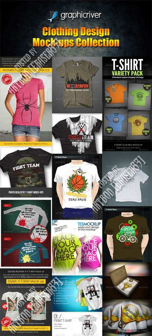 GraphicRiver Clothing Design Mock-ups Collection