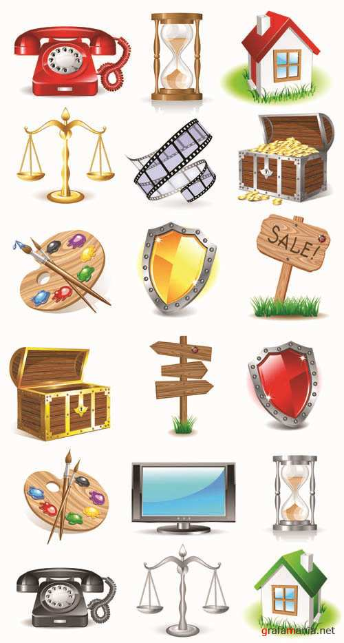 3D Web Vector Icons Collection #8