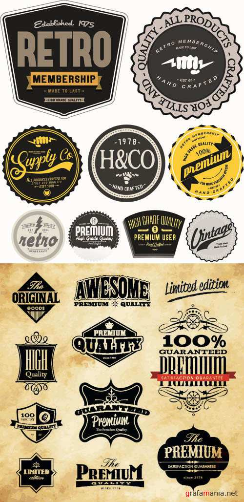 Labels Vector Collection #207