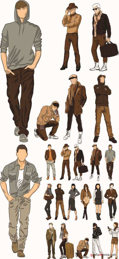 Autumn Style and Fashion - Vector Collection