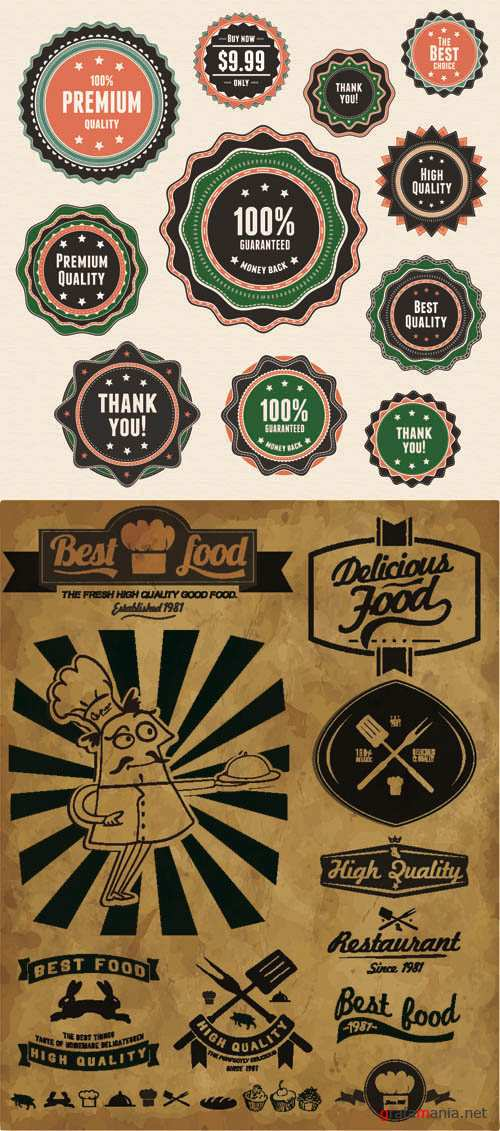 Labels Vector Collection #208