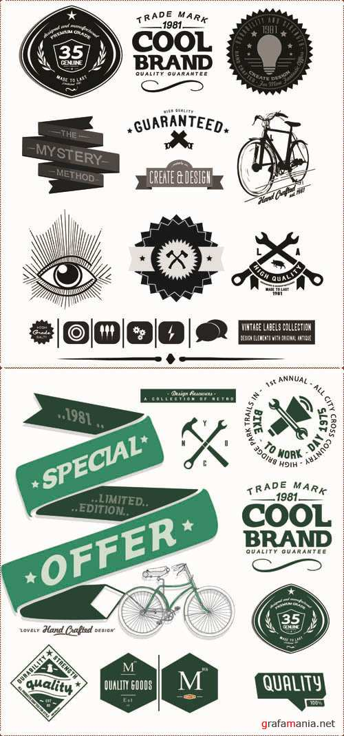 Labels Vector Collection #209