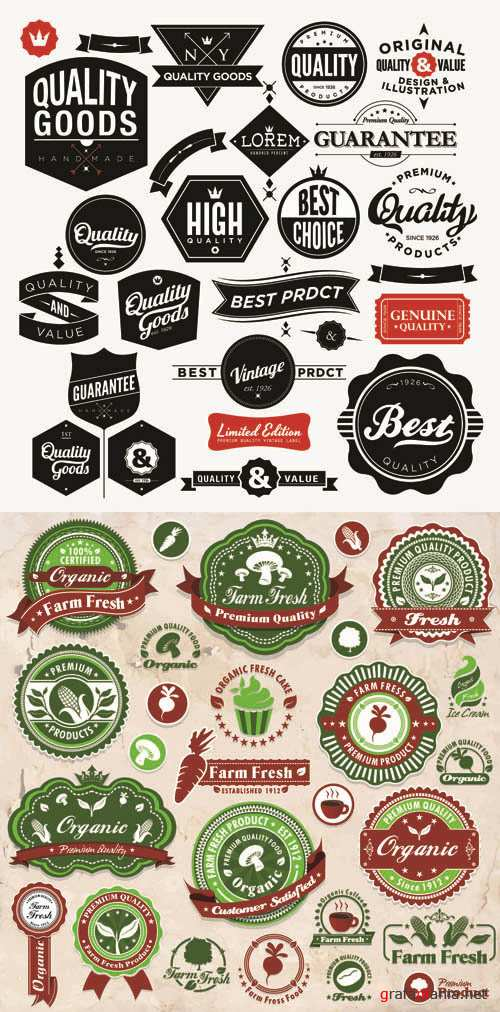 Labels Vector Collection #210