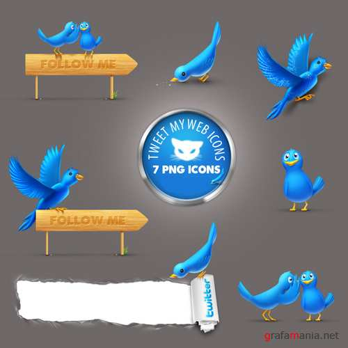Twitter Icons PSD