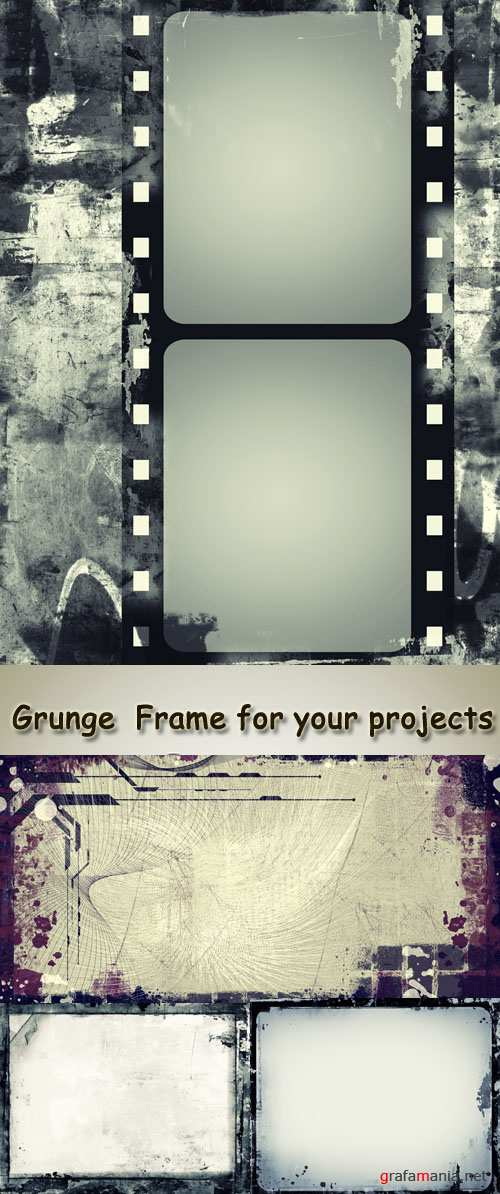 Stock Photo: Grunge Frame for your projects