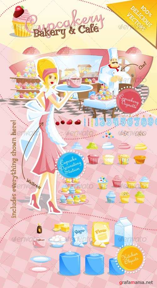GraphicRiver Cafe and Cupcakery Bakery Template