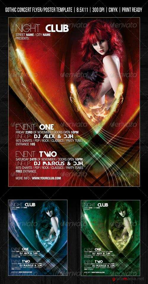 GraphicRiver Gothic Night Club Poster / Concert Flyer / Party