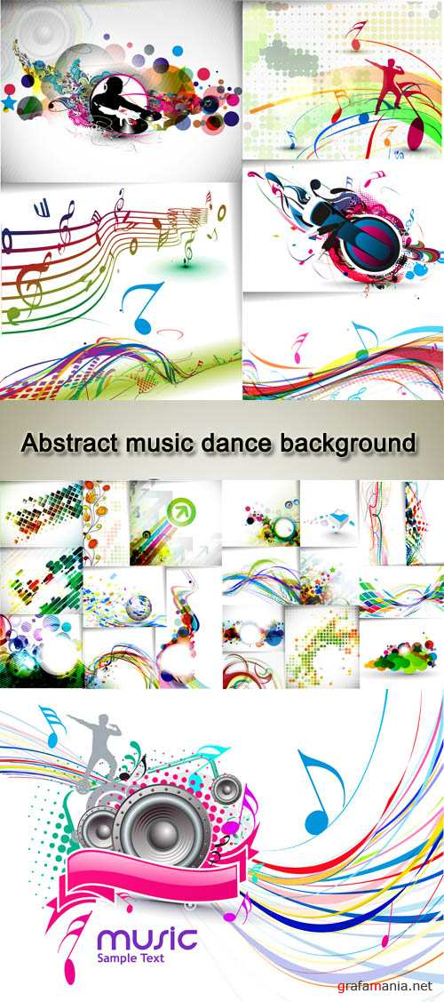 Stock: Abstract music dance background