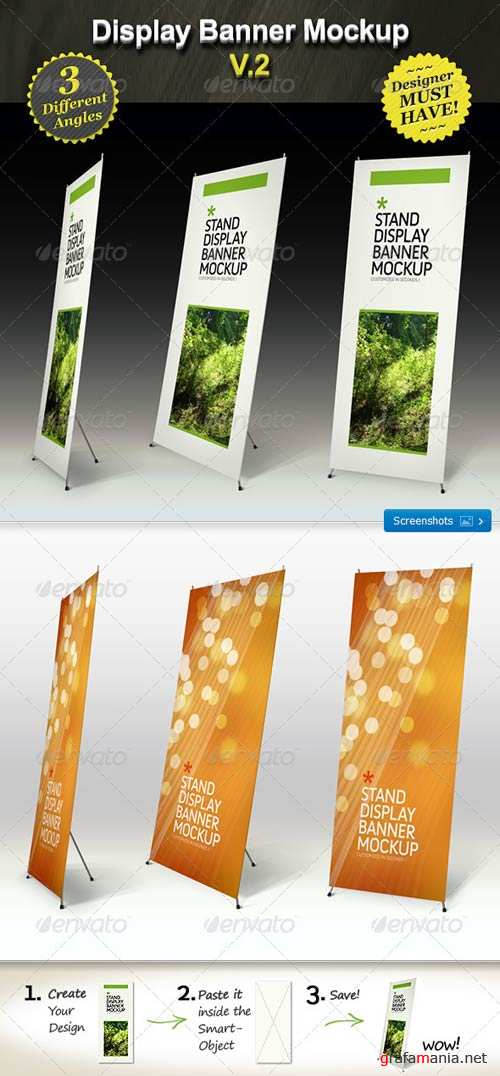 GraphicRiver Stand Display Mockup - Roll-up Smart Template