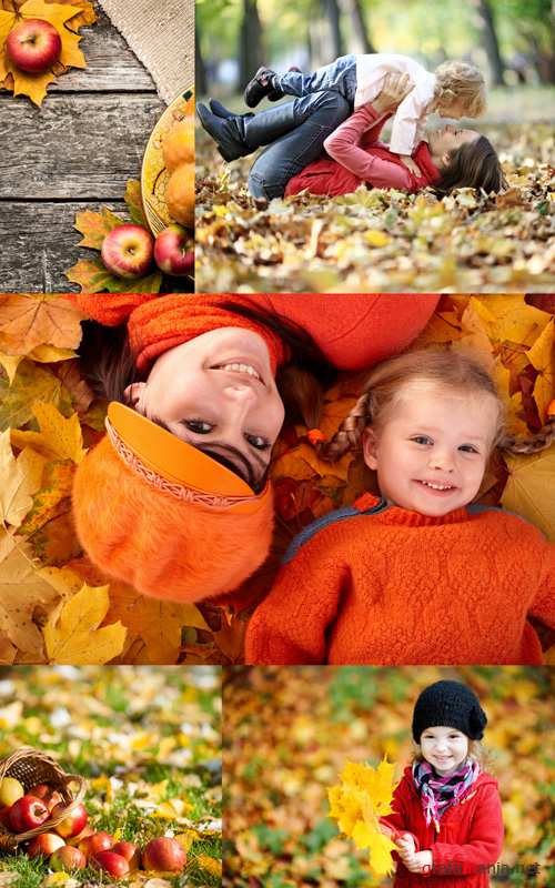 Autumn and Family - HQ Stock Photo