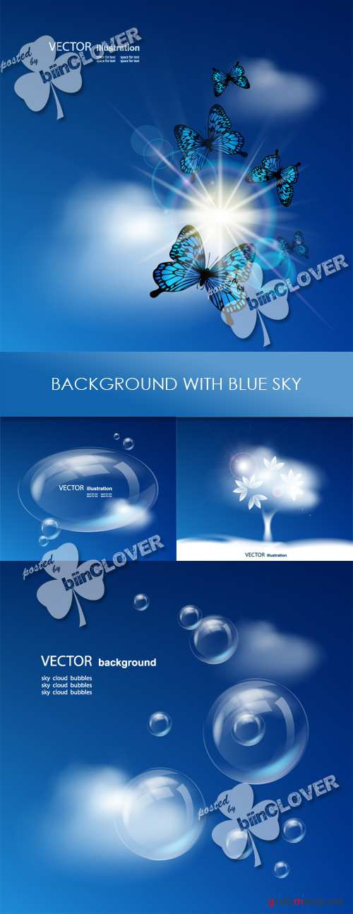 Background with blue sky 0261