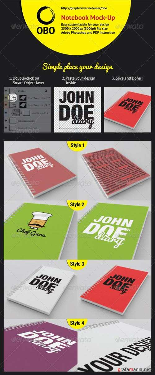 GraphicRiver Notebook Mock-Up